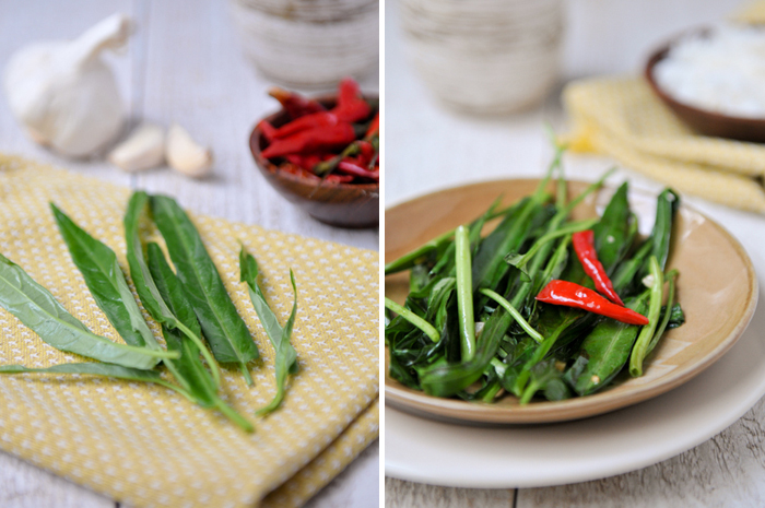 Stirfried Water Spinach | Pak Boong Fai Dang | ผัดผักบุ้ง