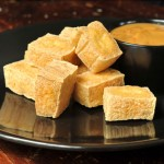 Fried Tofu with Peanut Sauce