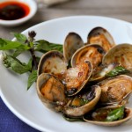 Clams with Roasted Chili Paste and Basil | Hoi Lai Pad Nam Prik Pao | หอยลายผัดน้ำพริกเผา