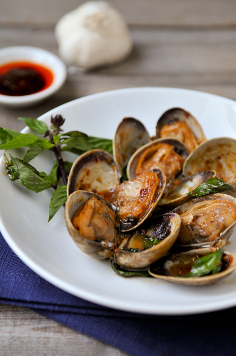 Rachel Cooks Thai: Clams with Roasted Chili Paste and Basil | Hoi Lai ...