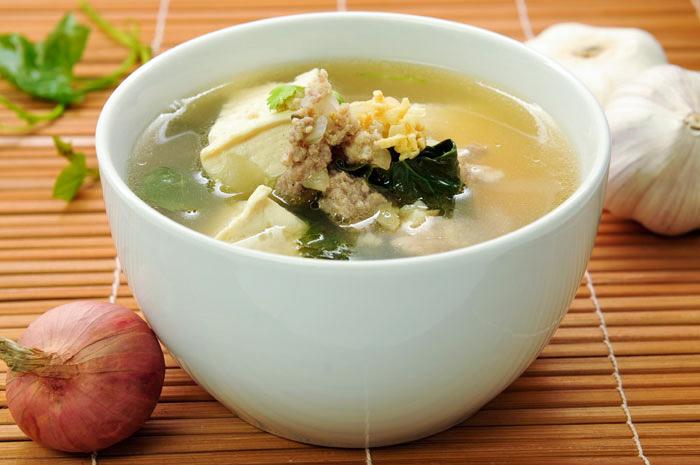 Pork and Tofu Soup | Gang Jeud | แกงจืดเต้าหู้