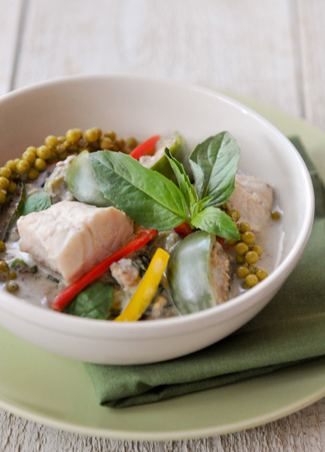 Green Curry with Fish, Eggplant, and Young Peppercorns | Gang Keow Wan Pla | แกงเขียวหวานปลา
