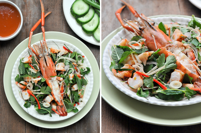 Grilled Prawns with Kaffir Lime Dressing | Saeng Wa Goong Pao | แสร้งว่ากุ้ง