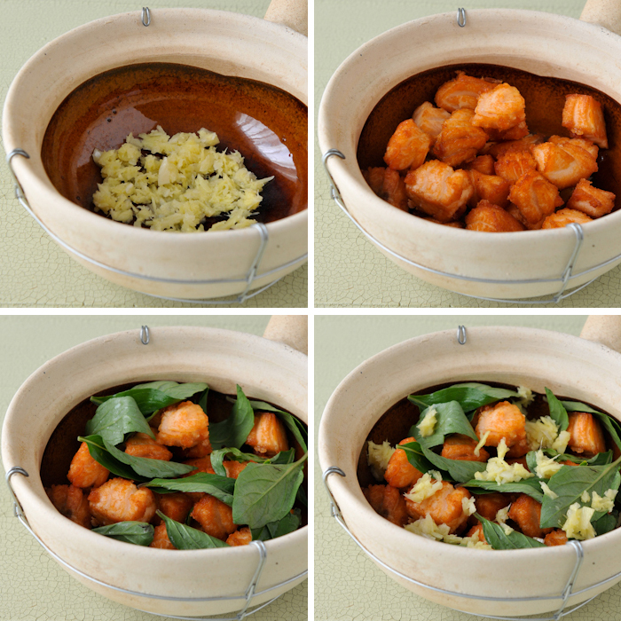 Thai-Inspired Salmon Clay Pot | Ob Pla Salmon | อบปลาแซลมอน